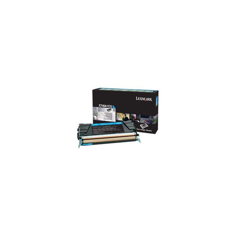 Lexmark Cartouche Toner X74X Cyan 7 000 pages LRP
