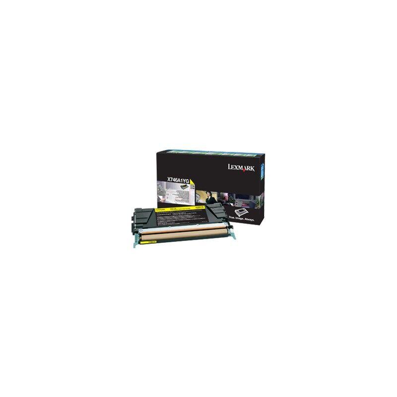 Lexmark Cartouche Toner X74X Jaune 7 000 pages LRP