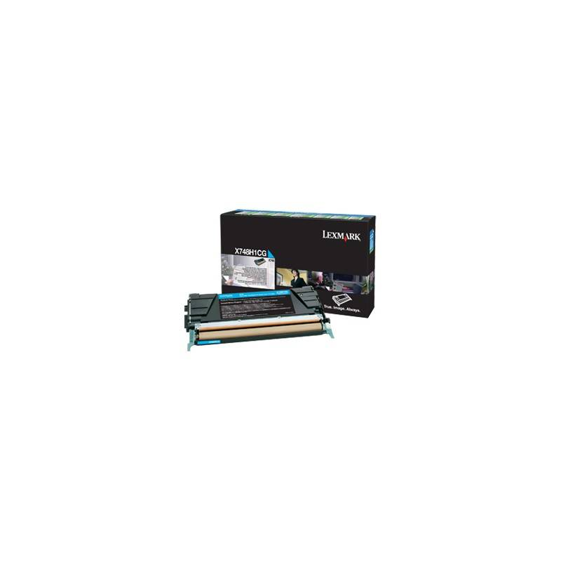 Lexmark Cartouche Toner X74X Cyan 10 000 pages LRP