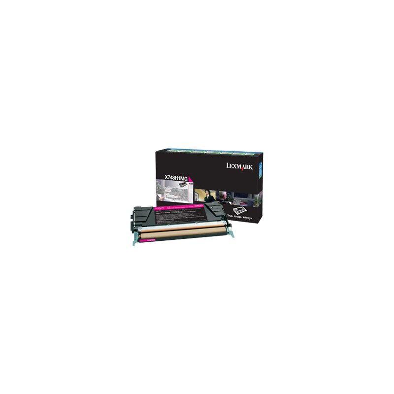 Lexmark Cartouche Toner X748 Magenta 10 000 pages LRP