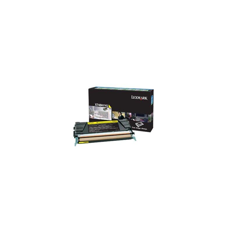 Lexmark Cartouche Toner X748 Jaune 10 000 pages LRP