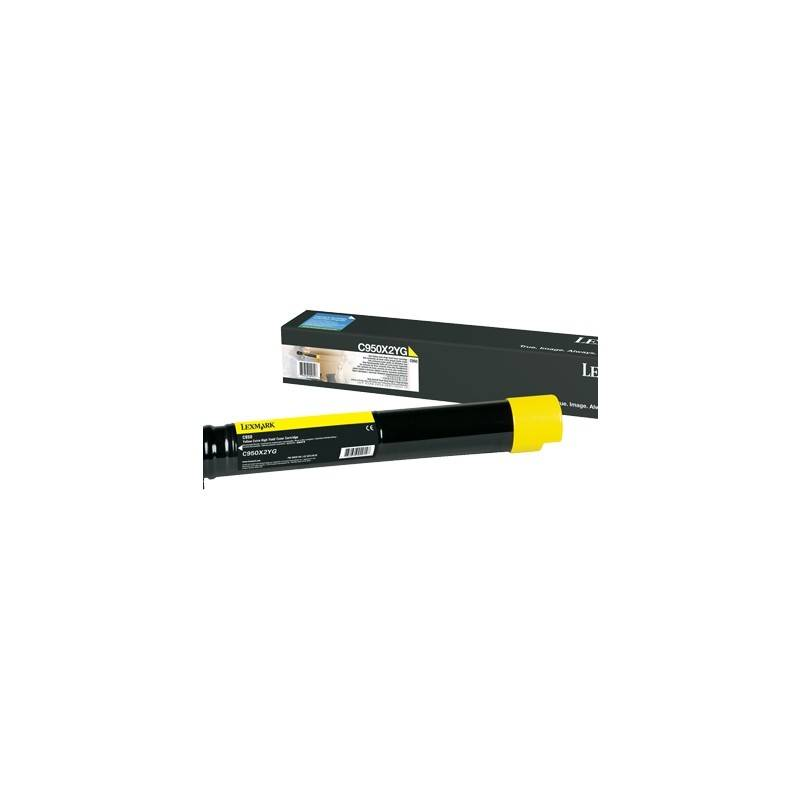 Lexmark Cartouche Toner C950 Très Haute Capacité Jaune 22 000 pages