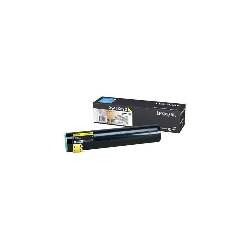 Lexmark Cartouche Toner X94X Haute Capacité Jaune 22 000 pages