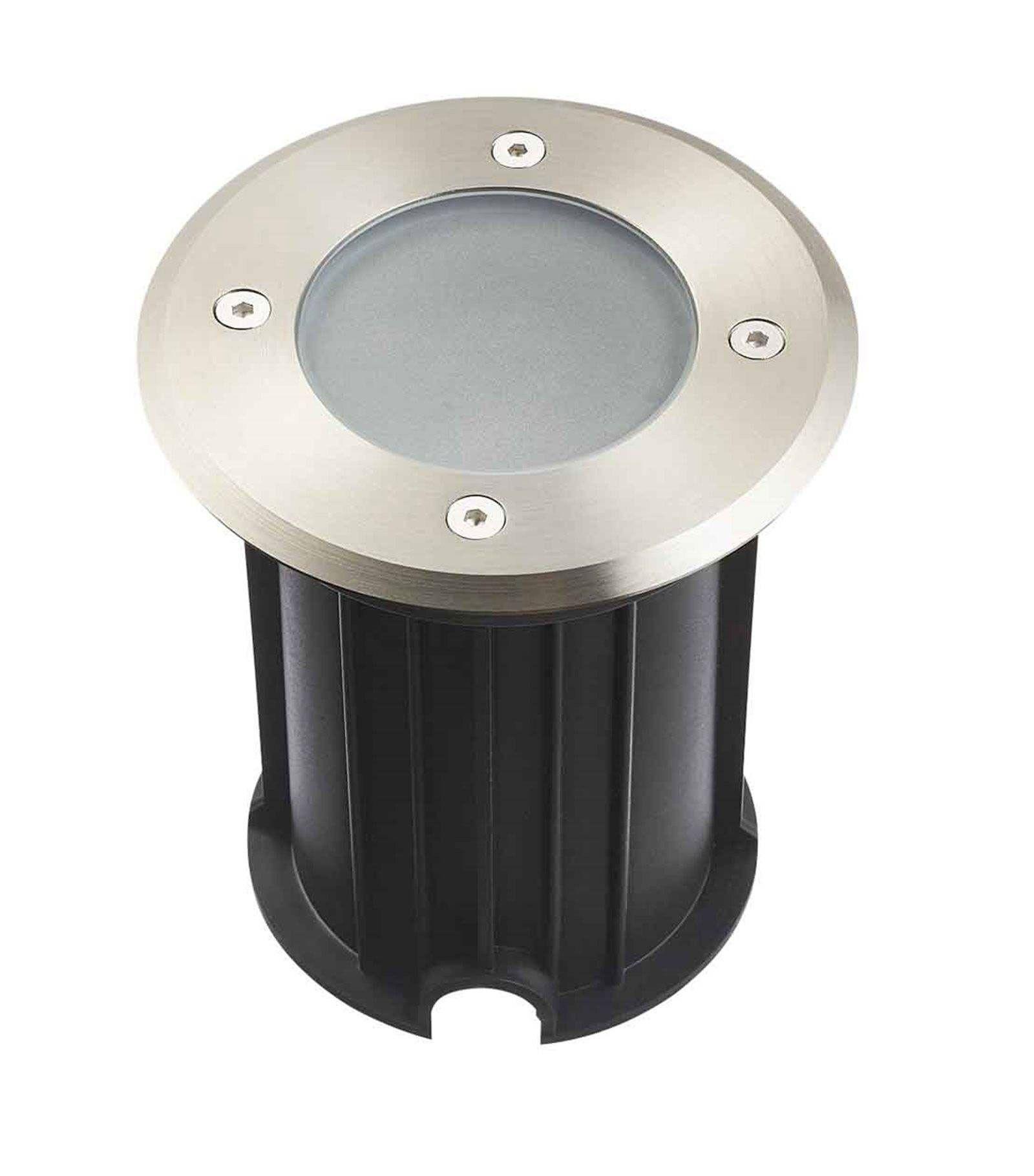 Hipow Spot encastrable Rond MIAMI Inox 316L (montage en série avec 2 presses étoupe) FROST GU10 220V IP67 HIPOW