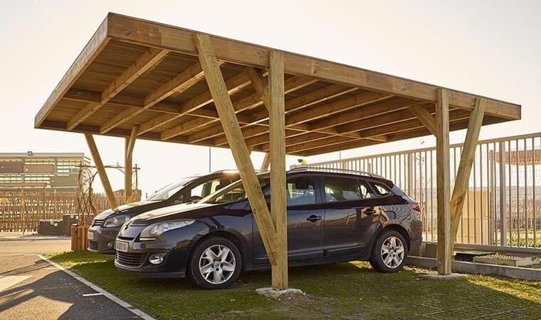 House and Garden Carport en bois 2 voitures 34 m2 - Vosges