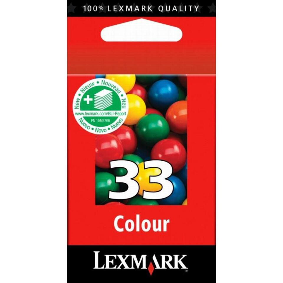 Cartouche jet d'encre lexmark n°33 couleur