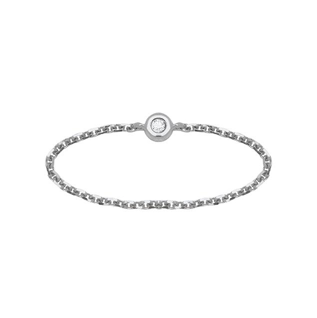 Lucky One Bijoux Bague Bangkok - Diamant Or Blanc 18k