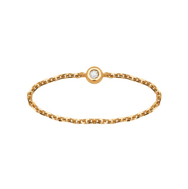 Lucky One Bijoux Bague Bangkok - Diamant Or Jaune 18k