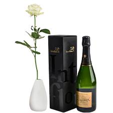 Interflora Rose blanche et son champagne Devaux