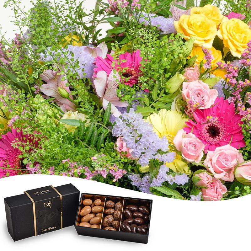 Interflora Bouquet gourmand du fleuriste - Idée Cadeau Interflora - Livraison Chocolats