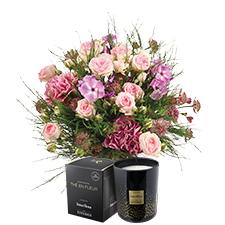 Interflora Velours et sa bougie parfumée Esteban