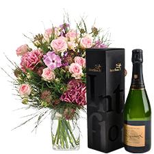 Interflora Velours et son champagne Devaux