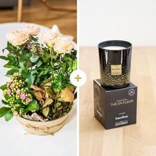 Interflora Coin de paradis et sa bougie parfumée Esteban