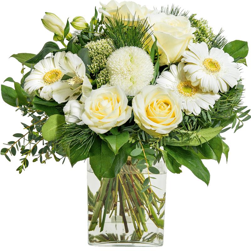 Interflora Bouquet Deuil Blanc - Livraison Fleurs Enterrement - Interflora
