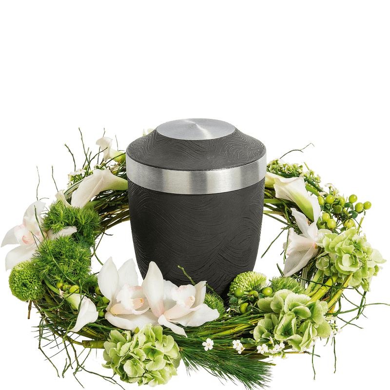 Interflora Couronne végétale pour urne funéraire - Fleurs Crémation