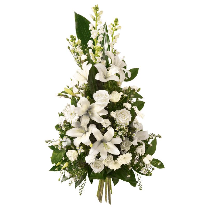 Interflora Gerbe Hommage blanc - Fleurs Deuil Interflora - Livraison Enterrement