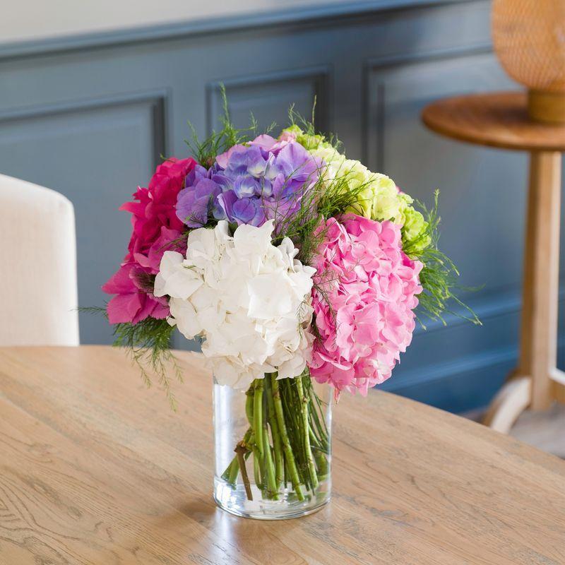 Interflora Bouquet d'Hortensias - Livraison Fleurs de saison en 24H - Interflora
