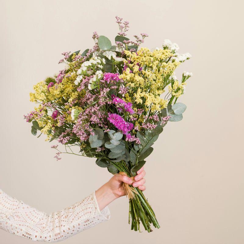 Interflora Brassée de Statice et Limonium - Bouquet à sécher naturellement - Interflora