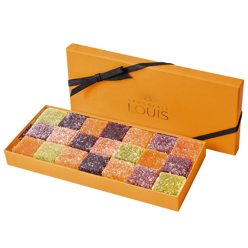 Interflora Coffret de pâtes de fruits X 21 - Chocolats Louis - Livraison par Chronopost - L'atelier Interflora - Interflora