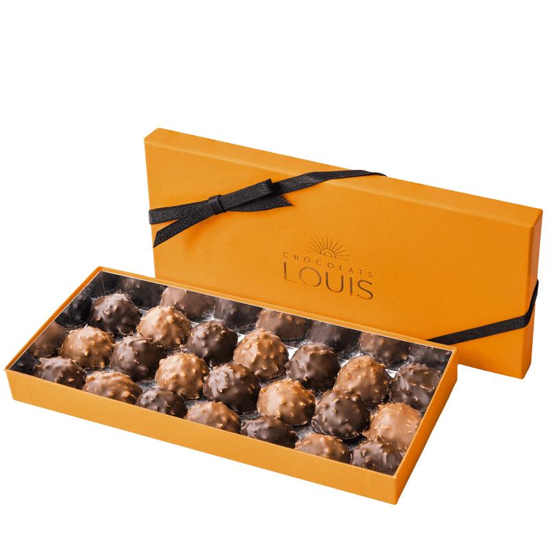 Interflora Coffret rochers chocolat noir et lait X 21 - Chocolats Louis - Livraison par Chronopost - L'atelier Interflora - Interflora