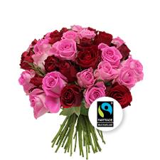 Interflora Brassée de roses roses Max Havelaar