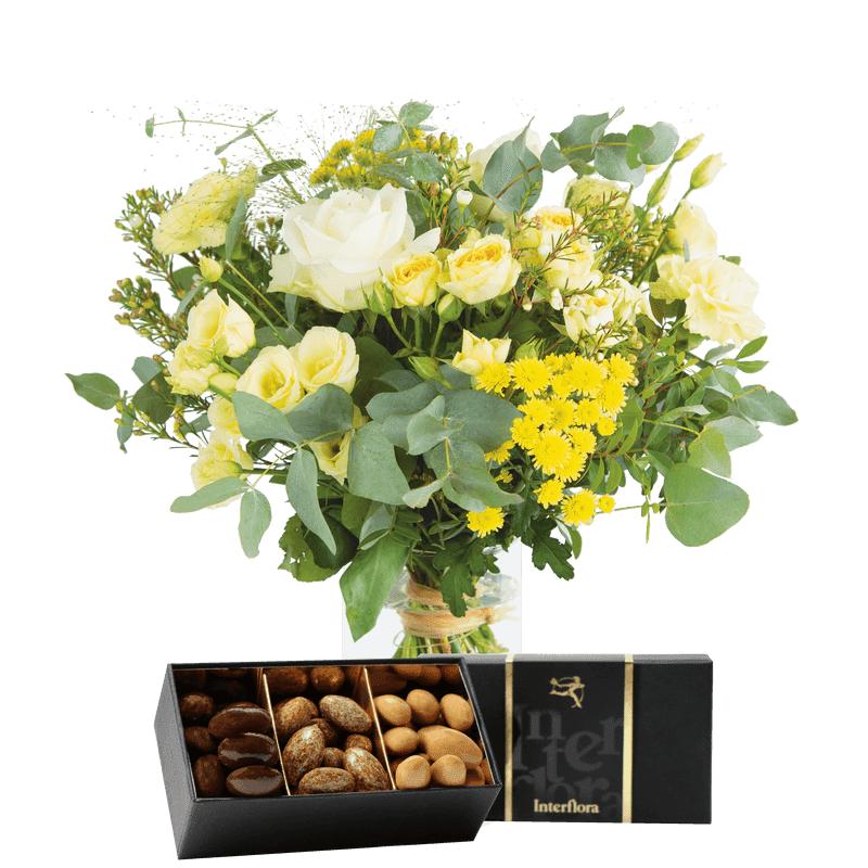 Interflora Bouquet Cristal et ses amandes au chocolat - Livraison Fleurs Interflora