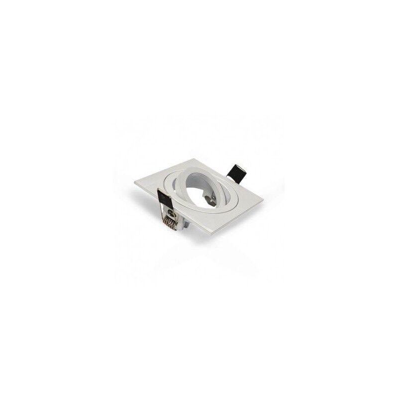 VISION EL Support plafond carré orientable blanc 88x88mm