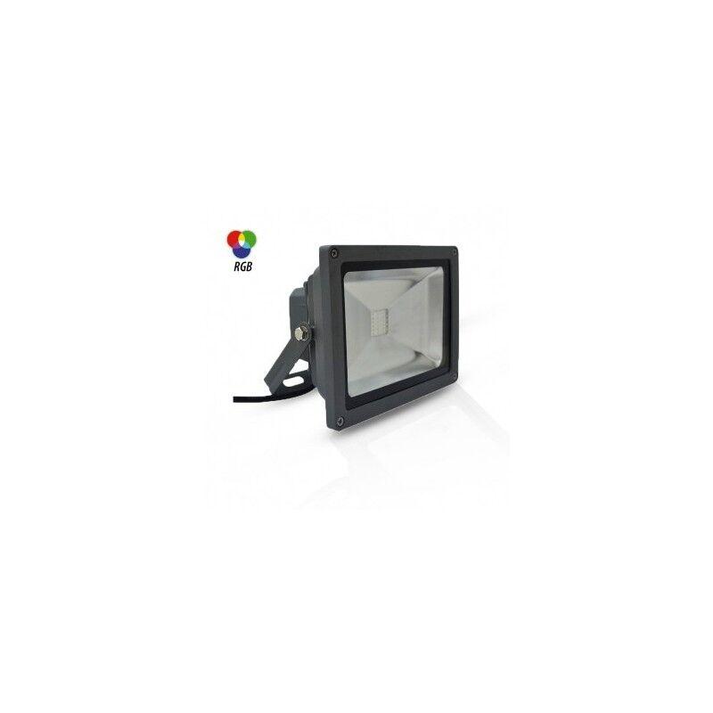 VISION EL Projecteur extérieur LED 20W RGB avec télécommande RF - Gris