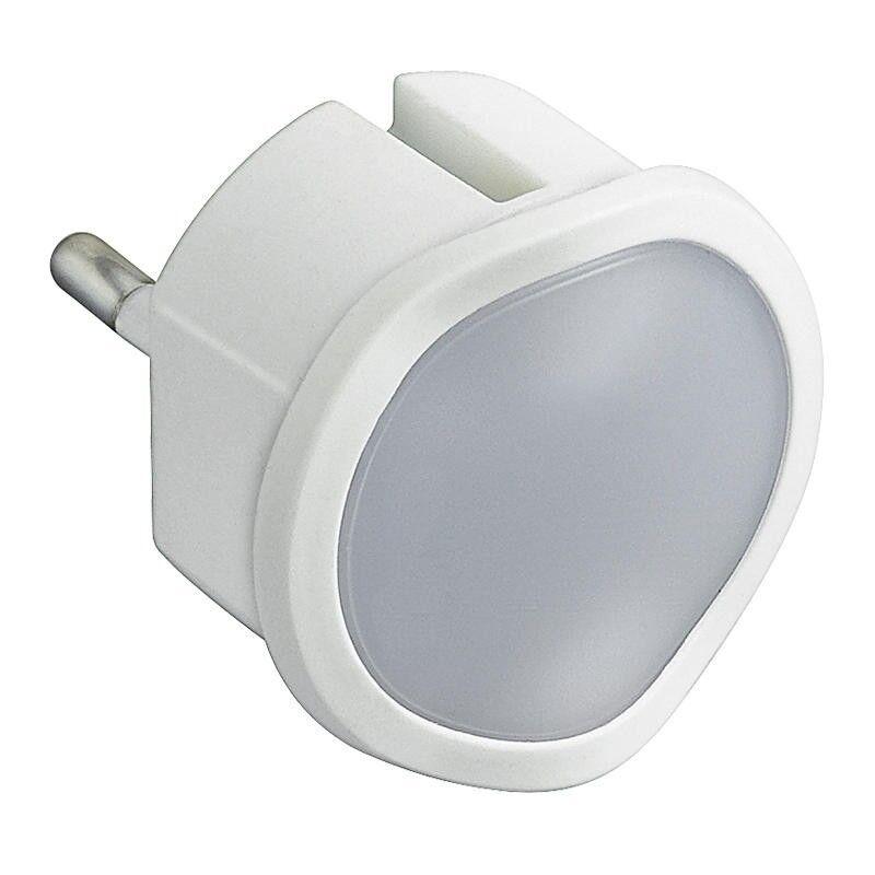 LEGRAND Veilleuse crépusculaire automatique avec LED haute luminosité et fiche 2P 10A - blanc