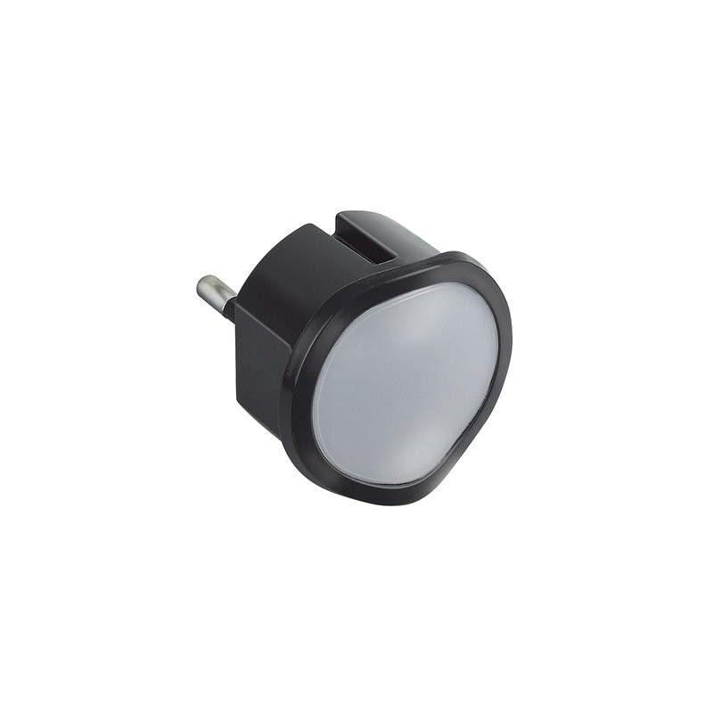 LEGRAND Veilleuse lampe torche avec batterie avec 2 LEDs haute luminosité et fiche 2P 10A - noir