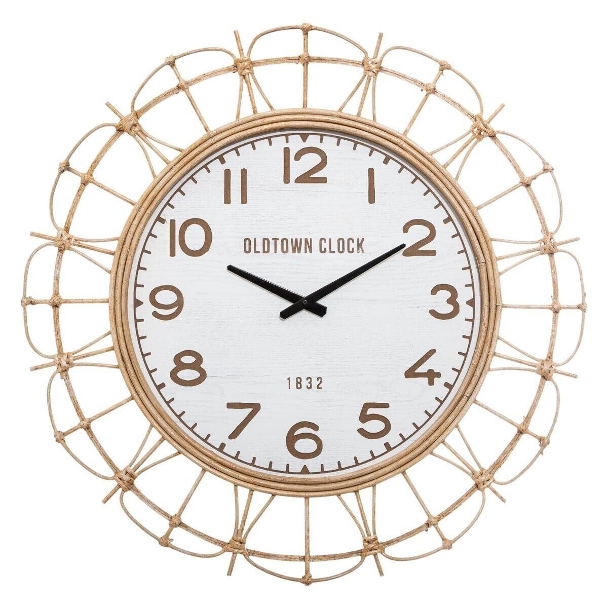 Atmosphera Horloge en rotin D73 cm