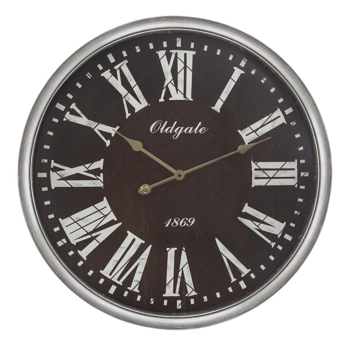 Atmosphera Horloge moulure noire D76 cm