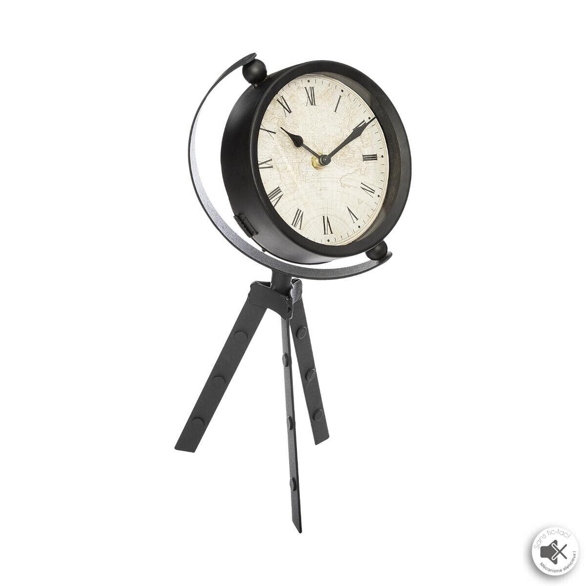 Atmosphera Horloge trépied à poser H36 cm