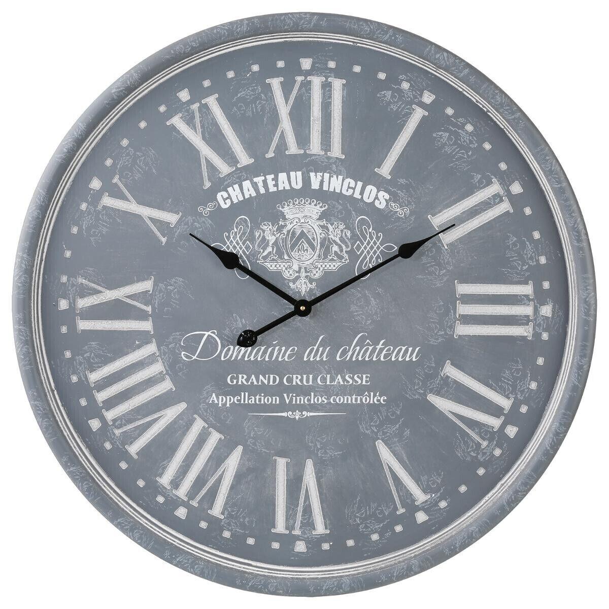 Atmosphera Horloge gravée grise D78 cm