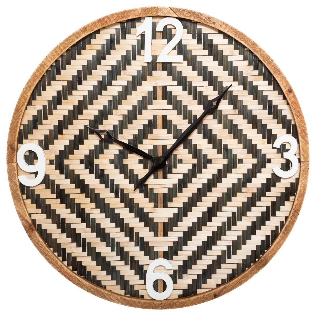 Atmosphera Horloge en bambou tressé D63 cm