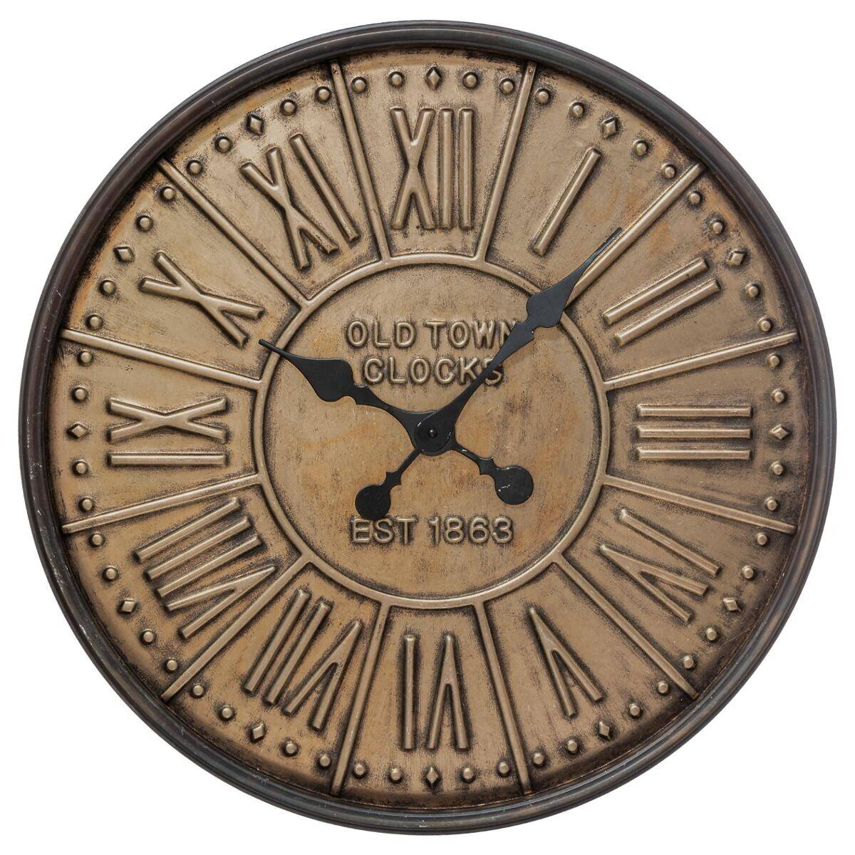 Atmosphera Horloge en métal embossé D60 cm