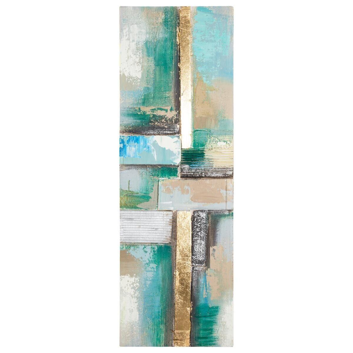 Atmosphera Toile peinte Abstrait Bleue 30x90