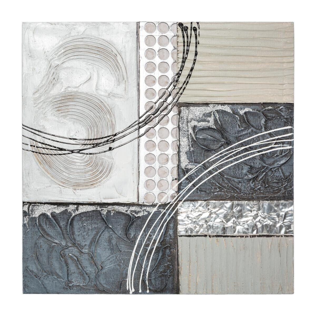 Atmosphera Toile peinte Abstrait en métal 48x48