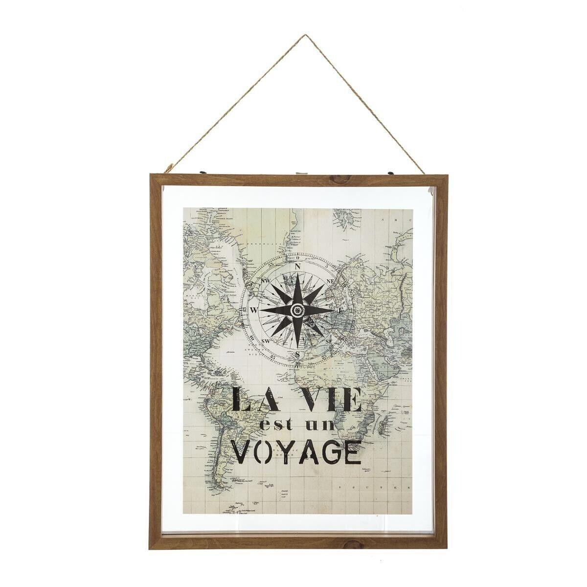 Atmosphera Cadre Voyage en verre 38x48