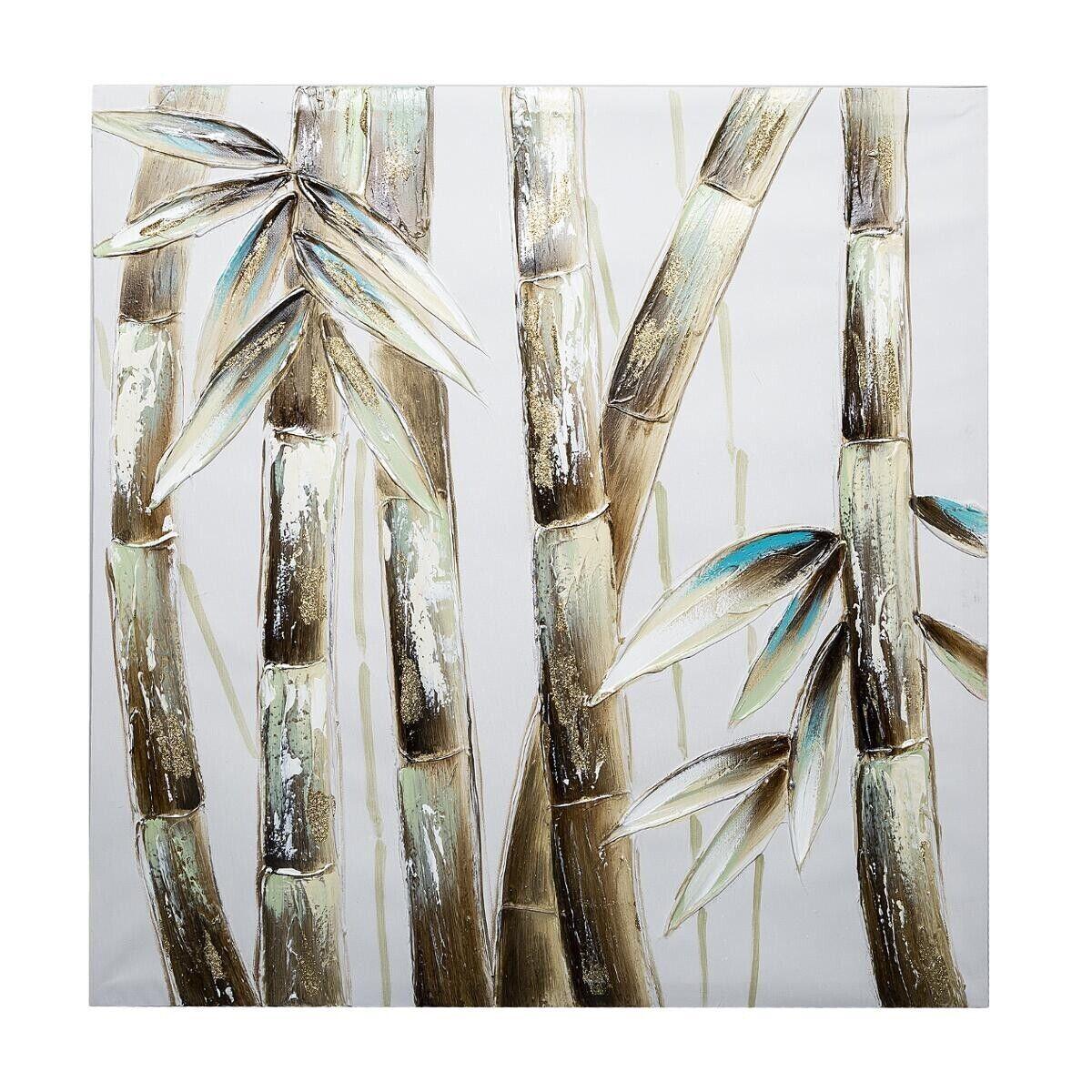 Atmosphera Toile peinte Bambou 58x58