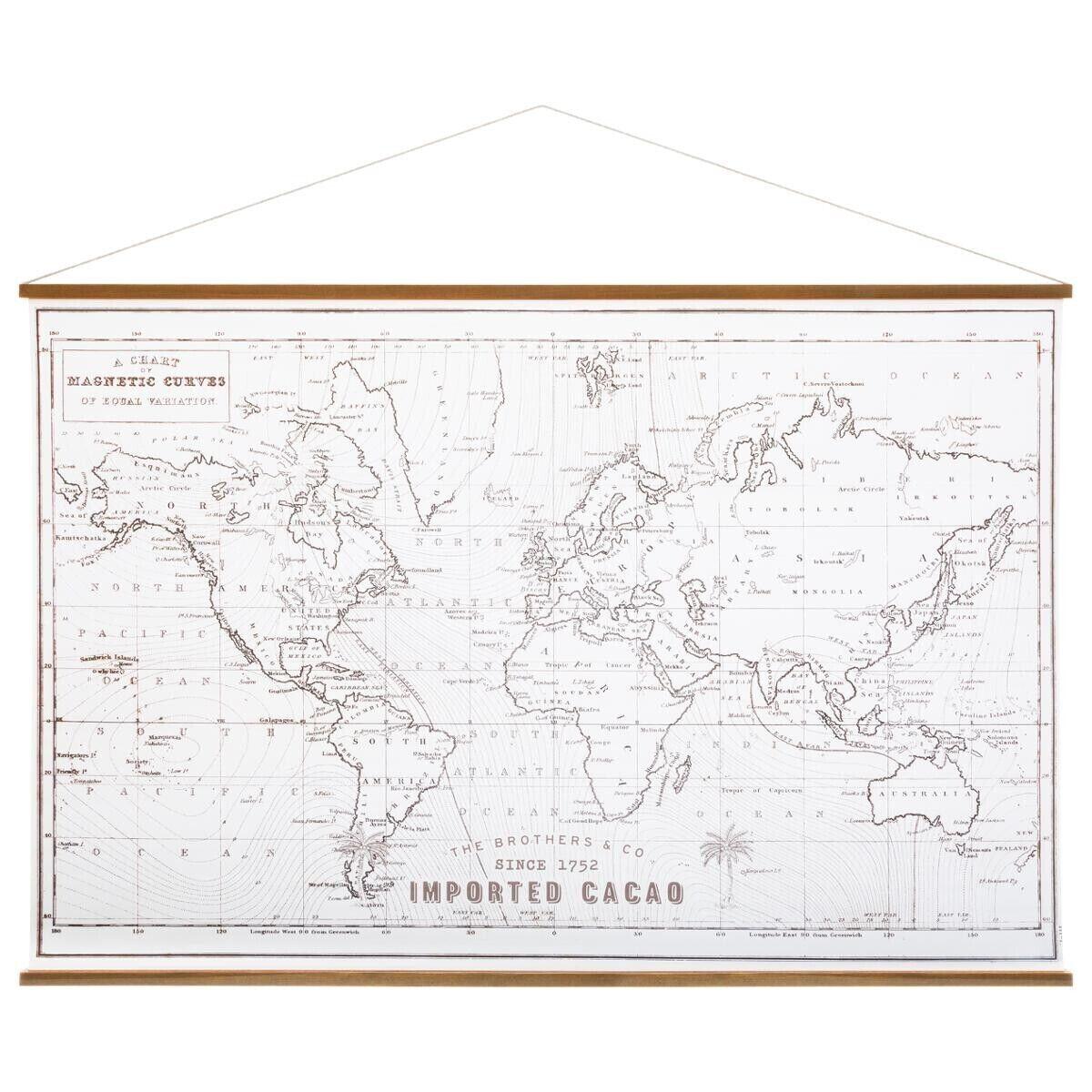 Atmosphera Toile carte du monde 110x73