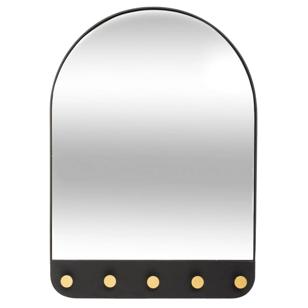 Atmosphera Miroir 5 patères, métal 51x71 cm