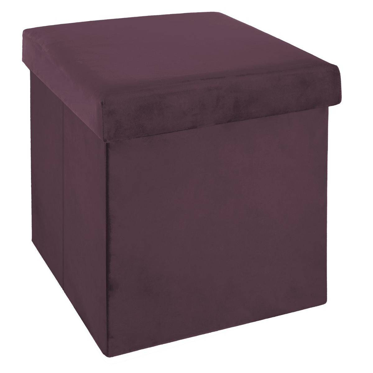 Atmosphera Pouf pliant Prune
