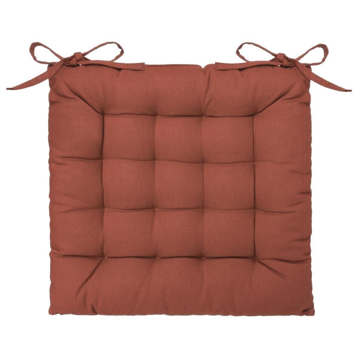Atmosphera Galette de chaise en coton terracota 38x38 cm old_refs-2021_DTE Unisexe