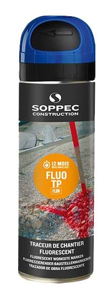 SOPPEC Traceur de chantier fluo TP 500 ml - bleu - SOPPEC - 141519O