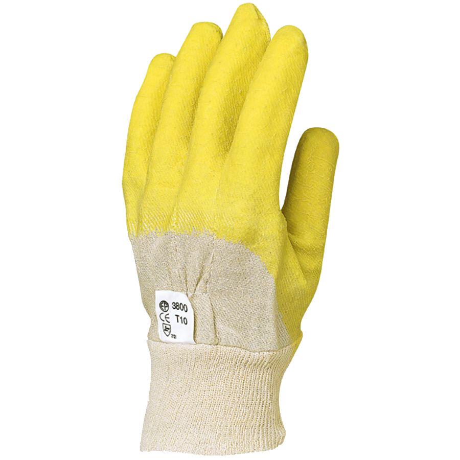 COVERGUARD Gant latex crêpe jaune dos aéré taille 10 - EUROTECHNIQUE - 3800