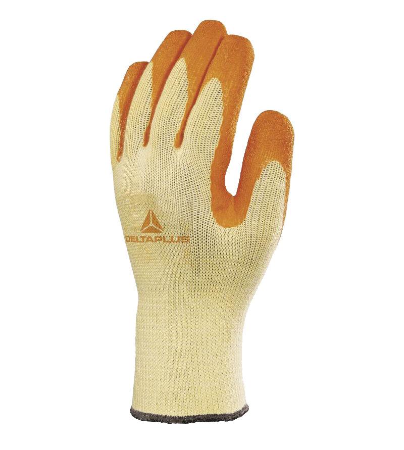 DELTA PLUS Gants de travail tricot coton latex taille 8 - DELTAPLUS - VE730OR08