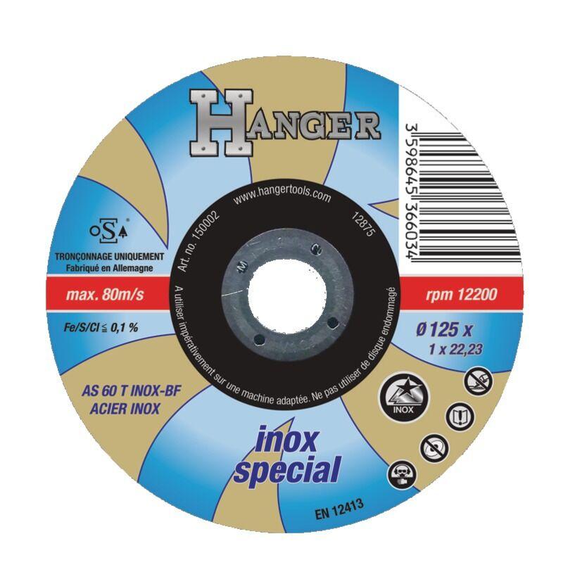 HANGER Disque à tronçonner droit pour inox 125 x 1 mm AS 60 T - HANGER - 150002