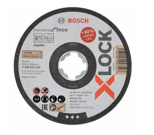 BOSCH Disque à tronçonner X-LOCK 125 x 1 mm Standard for Inox - BOSCH - 2608619262