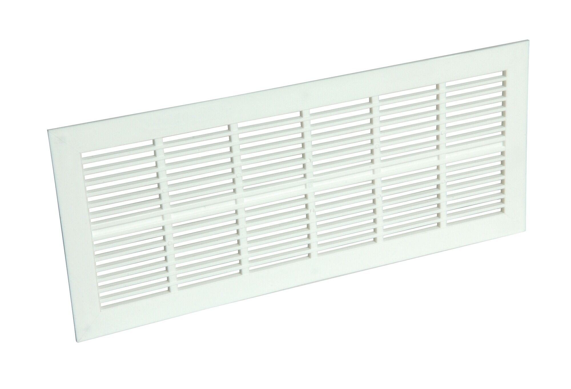 NICOLL Grille de ventilation en applique Type 100cm2 rectangulaire extra-plate 54x230 mm - NICOLL - 1PB101